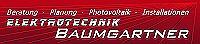 Logo Elektrotechnik Baumgartner